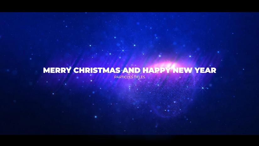 Premiere模板-震撼大气粒子特效标题文字开场年会视频模板