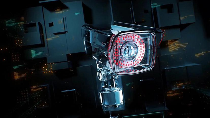 Premiere模板-安保公司监控摄像头演绎LOGO动画模板